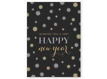 Silver & Gold Style & Glitz Happy New Year Card